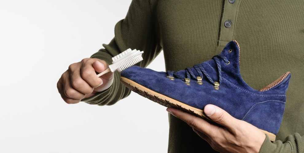 Suede Shoe cleaning with to suede brush lifestyle major