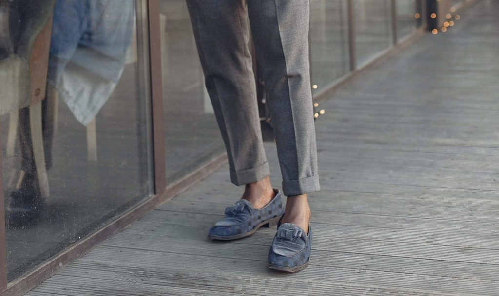 Suede vs Leather Tassel Loafers lifestyle major