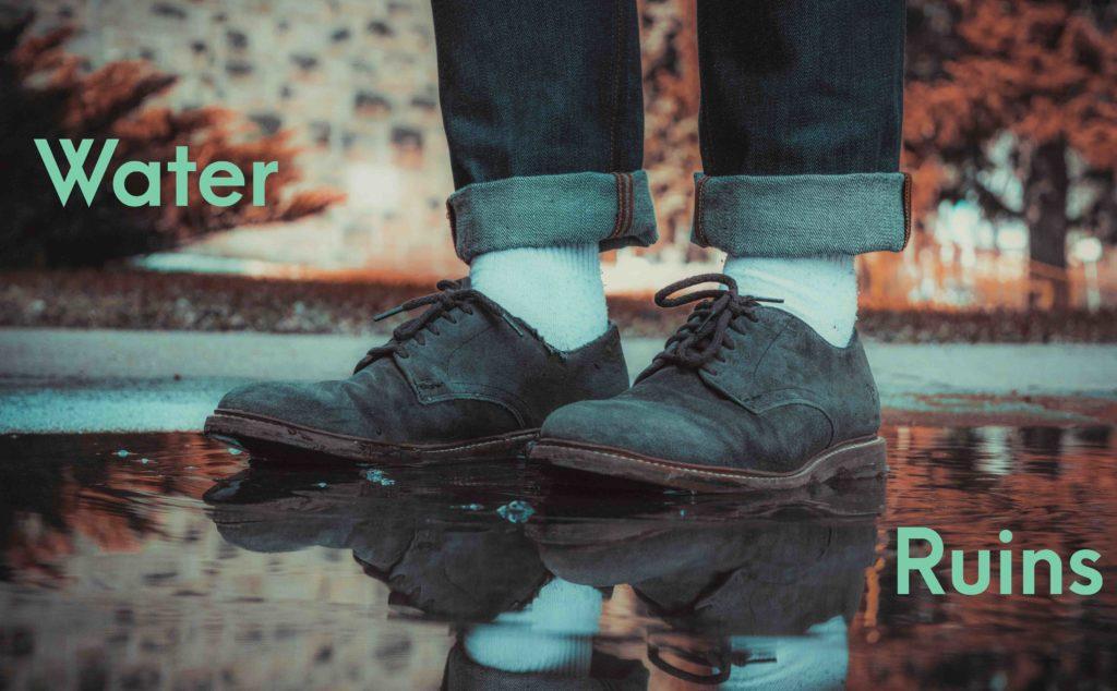 Water Ruins suede shoe lifestyle major