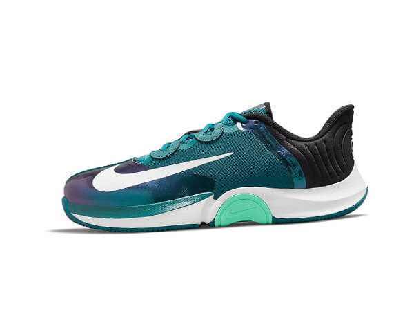 Nike Mens Court Air Zoom GP Turbo Tennis Shoes Dark Teal Green and White Tennis Shoe Review Lifestyle Major
