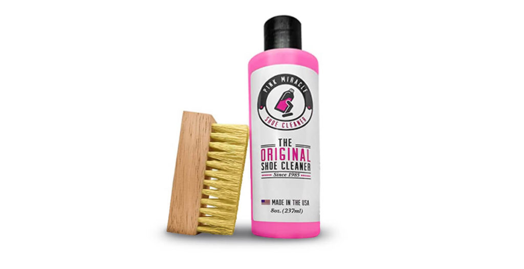 Pink Miracle Shoe Cleaner to remove stains from shoe lifestyle major