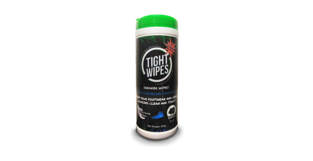 Tight Wipes Shoe Cleaner to remove stains from shoe lifestyle major