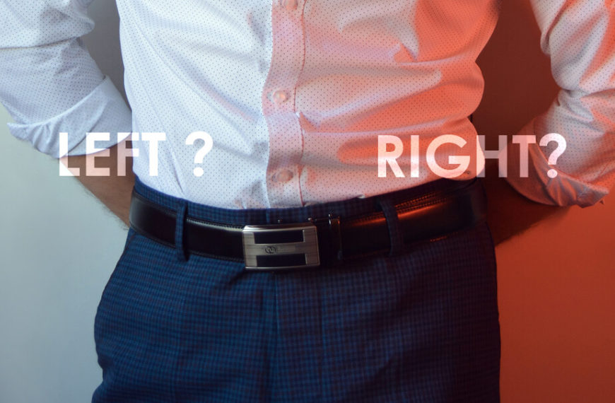 Which direction should you wear a belt left or right side?