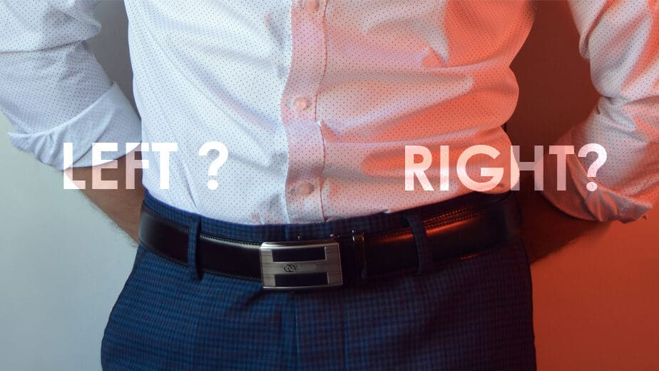 Which direction should you wear a belt left or right side